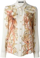 Balmain baroque print shirt - women - Silk - 42