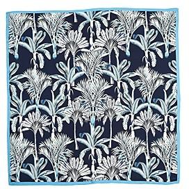 Echo Wild Palm Square Silk Scarf