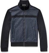 Bottega Veneta Slim-fit Cotton And Quilted Nylon Jacket - Storm blue