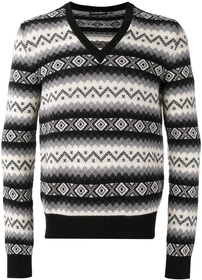 Alexander McQueen V-neck jumper