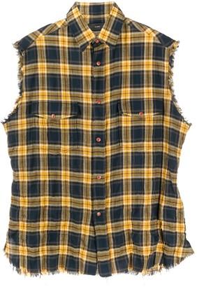 Alanui Checked Sleeveless Buttoned Shirt