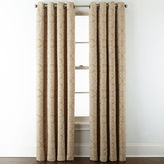 JCP HOME JCPenney HomeTM Addison Blackout Grommet-Top Curtain Panel