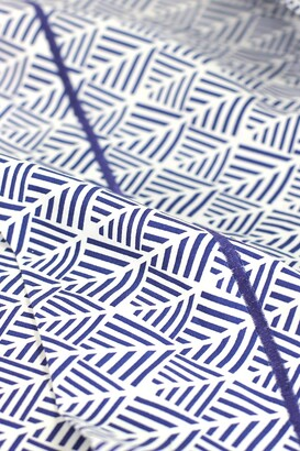 Melange Home Queen 400 Thread Count Cotton Arrow Sheet 4-Piece Set - Blue