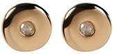 Kenneth Cole New York 14K Gold Plated Diamond Circle Stud Earrings - 0.06 ctw