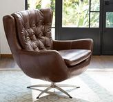Pottery Barn Wells Leather Armchair