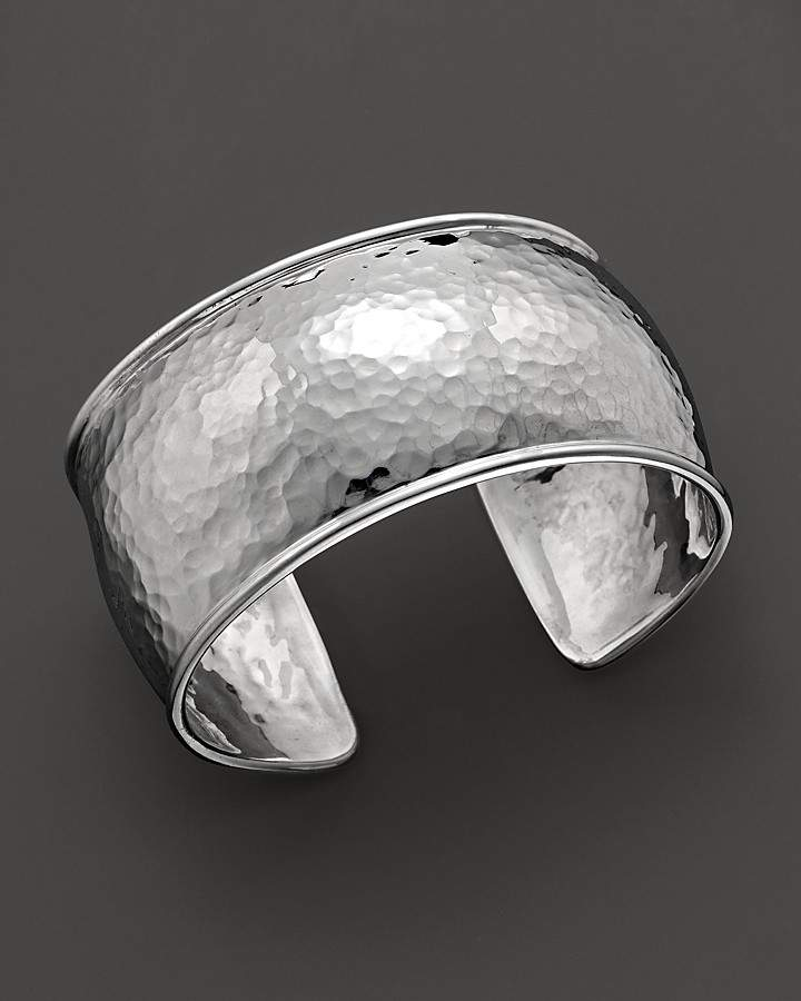 Ippolita Sterling Silver Hammered Flat Cuff