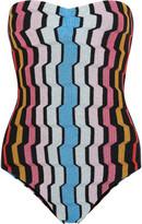 Missoni Metallic crochet-knit swimsuit