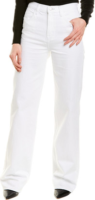 J Brand Joan High-Rise White Wide Leg