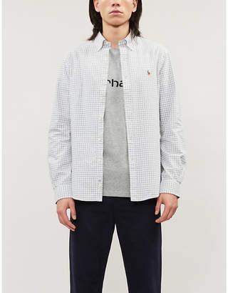 Polo Ralph Lauren Logo-embroidered checked cotton-poplin shirt