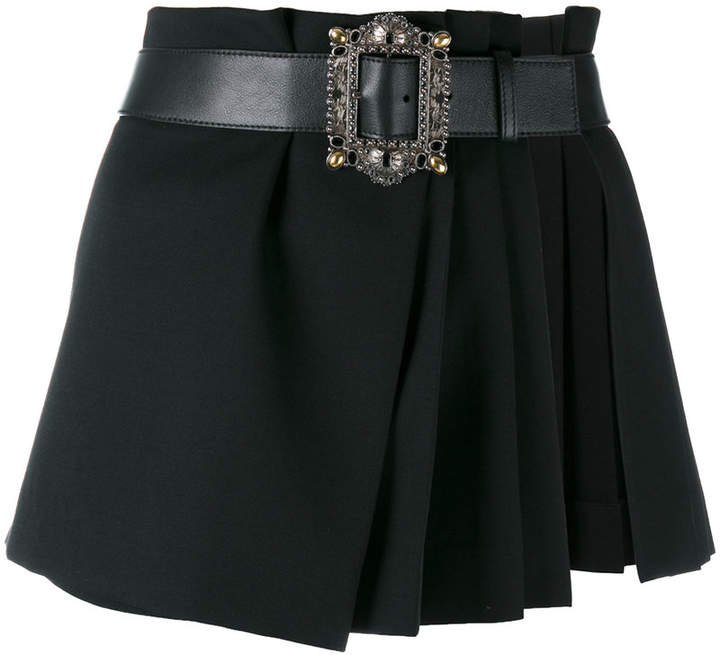 Alexander McQueen pleated wrap mini skirt