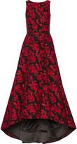 Alice + Olivia Brylee asymmetric jacquard gown