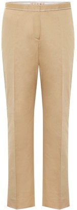 Marni Mid-rise cotton and linen pants