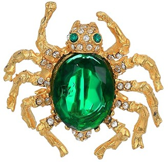Kenneth Jay Lane Spider Pin (Emerald) Brooches Pins