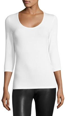 Majestic Filatures Soft Touch Scoopneck Tee