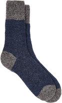 Barneys New York Men's Bouclé Mid-Calf Socks-BLUE