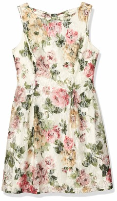 Jessica Howard JessicaHoward Women's Sleeveless A-Line Release Pleat Dress with Bow Back