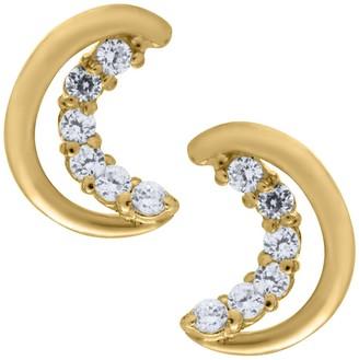 Mignonette 14k Gold Half Moon Earrings