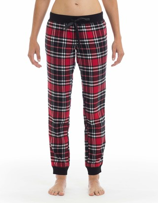 Joe Boxer Women's Ruby Rose Plaid Flannel Pant Sleepwear