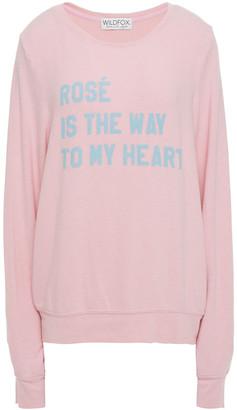 Wildfox Couture Printed Fleece Sweatshirt