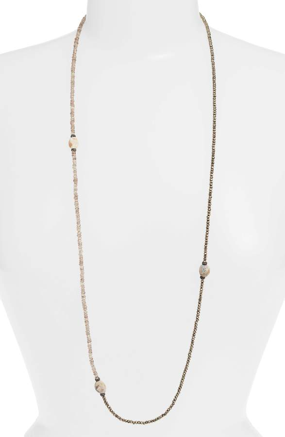 Armenta New World Pyrite Opal Beaded Necklace