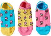 LittleMissMatched Girls 4-9 Little Miss Matched 3-pk. Scented Liner Socks