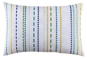 """Fiesta LaVida 12"""" x 18"""" Embroidered Stripe Decorative Pillow"""