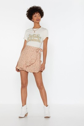 Nasty Gal Womens Bud Out Floral Wrap Skirt - Pink