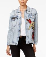 True Religion Rebelle Cotton Embroidered Trucker Jacket