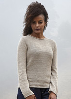 Callina Style - Audrey Rolled Crew Neck Pullover In Sand
