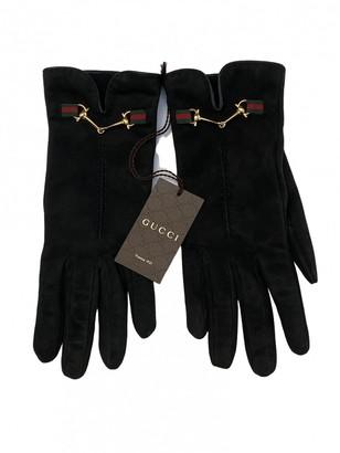 Gucci Black Suede Gloves