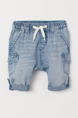 H&M Cotton Denim Pants - Blue