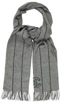 Chanel Beaded CC Cashmere Scarf