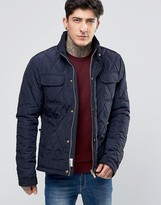 Scotch & Soda Quilted Jacket In Navy