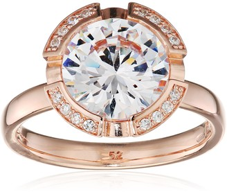 Thomas Sabo Women-Ring Glam & Soul 925 Sterling Silver 18k rose gold plating Zirconia white Sz. 52 (16.6) TR2038-416-14-52