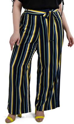 Marée Pour Toi Stripe Wide Leg Pants