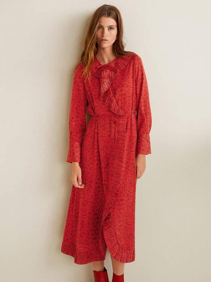 60cc808f5073 Mango Pleat Dress - ShopStyle UK