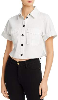 re:named apparel Re:Named Cropped Cargo Shirt