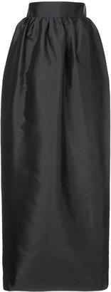 The Row High-waist Gathered Skirt