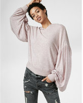 Express brushed balloon sleeve popover hoodie