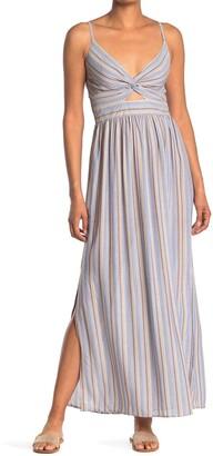 Angie Stripe Print Cutout Maxi Dress