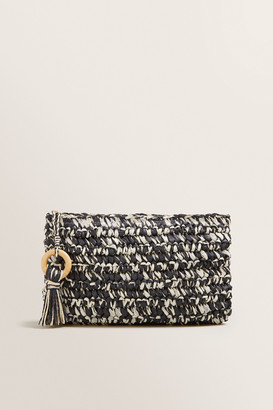 Seed Heritage Two Tone Straw Pouch