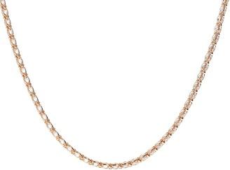 "Diamonique 16"" Caged Tennis Necklace, Sterlingor 14K Clad"