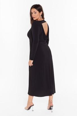 Nasty Gal Womens Cowl You Back Later Plus Midi Dress - Black