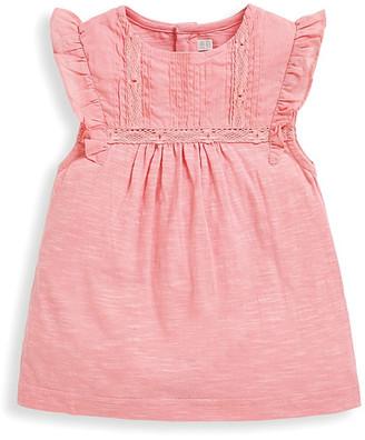 Jo-Jo JoJo Maman Bebe Tee Shirts Dusky - Dusty Pink Lace Angel-Sleeve Top - Infant, Toddler & Kids