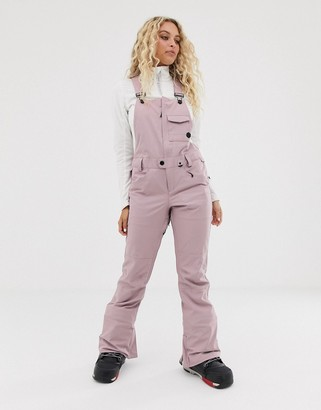 Volcom Snow Swift bib overall pant in lilac
