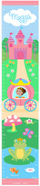 Olive Kids Brown-Haired Princess Personalized Growth Chart Wall Decal