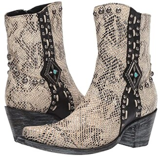 Double D Ranchwear by Old Gringo Four Winds (White) Women's Shoes