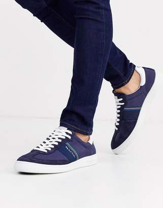 Paul Smith Yuki suede mix trainers in navy