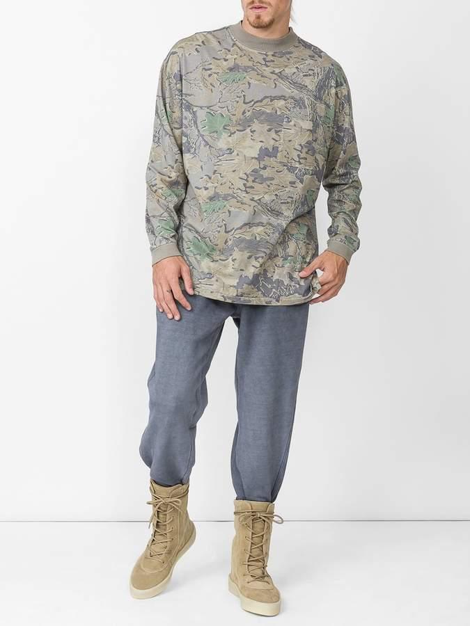 Yeezy Camouflage leaf print sweatshirt