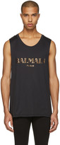 Balmain Blacl Logo Muscle T-Shirt